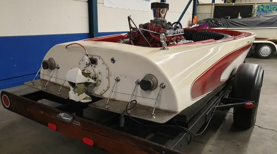 UNIEK! Stevens flat bottom jetboat uit 1968